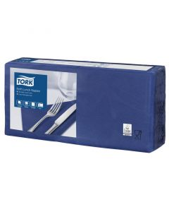 Tork Advanced tissue-servetten, 33x33 1/4, 3-laags, celstofservetten - donkerblauw