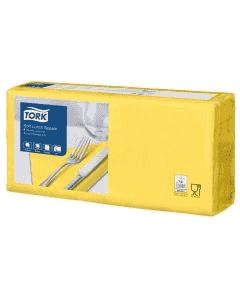 Tork Advanced Tissue-Servietten,33x33 1/4,3-lagig - gelb - Zellstoffservietten farbige (477862)