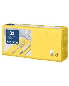 Tork Advanced Tissue-Servietten, 33x33 1/8,3-lagig - gelb - Zellstoffservietten farbige (477880)