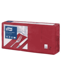 Tork Advanced tissue-servetten, 33x33 1/8, 3-laags, celstofservetten - bordeaux