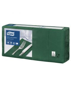 Tork Advanced tissue-servetten, 33x33 1/8, 3-laags, celstofservetten - donker-/mosgroen