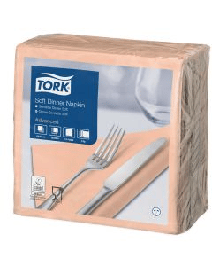 Tork Advanced tissue-servetten, 40x40 1/4, 3-laags, celstofservetten - apricot