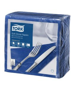 Tork Advanced tissue-servetten, 40x40 1/4, 3-laags, celstofservetten - donkerblauw
