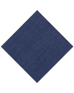Tissue-Servietten GOURMET, 40x40 1/4 Falz, 3-lagig - dunkelblau - Zellstoffservietten farbige