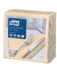 Tork Advanced tissue-servetten, 40x40 1/4, 3-laags, celstofservetten - ivoor / champagne