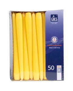 Dinerkaarsen (GALA) - geel, 250 / 22mm horeca 100 stuks