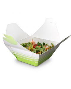 "Lunchbox ""Bio Premium"", große Snackbox/Salatbox mit Faltdeckel,175x175x80mm"
