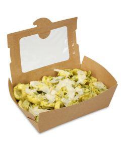 BioPak Foodcase - snackbox met venster, gecoat, bruin - 1500ml
