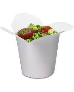 SmartServ-box - ronde vouwbox karton wit - 16oz/500 ml voor pasta, döner, Asia