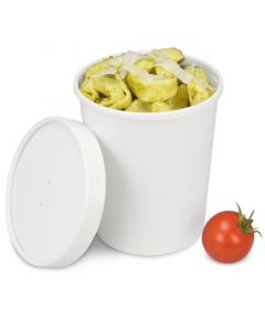 Soup To Go-Container, extrastarker Pappbecher mit Dampfdeckel für Suppenbars - 32oz/900ml