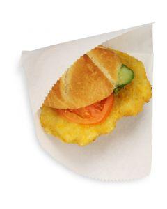 Snacktasche / Hamburgertasche 2-seitig offen, klein, Perga-Ersatz fettdicht