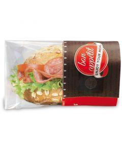 "Snack Bag ""Enjoy your Meal"" mit abnehmbarem Sichtfenster - medium, rot"