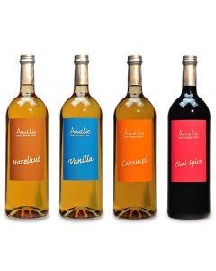 """4 Flaschen Amélio Flavour Sirup - """"Hazelnut"""", """"Vanilla"""", """"Caramel"""", """"Chai Spice"""" (1000ml)"""