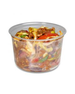 Deli Gourmet Container, exclusief, glasheldere US-delicatessenbeker - 16oz, 400 ml