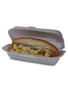 Hotdogbox, geschuimd polystyreen - 20x8x6cm