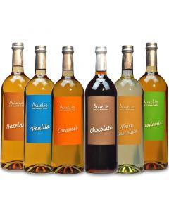 "6er-Pack Amélio Flavour Sirup - ""Hazelnut"", ""Vanilla"", ""Caramel"", ""Chocolate"", ""White Chocolate"", ""Macadamia"" (1000ml)"