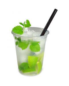 Cocktail-Trinkhalme kurz, 15cm Ø8mm starr schwarz