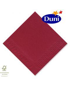 Duni Zelltuch-Servietten 24x24cm - Bordeaux rot (Cocktailservietten, Dunicel-Servietten, Tissue 3-lagig) # 168415