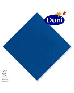 Duni Zelltuch-Servietten 40x40cm - Dunkelblau (Dunicel-Servietten, Tissue, 3-lagig) # 213547