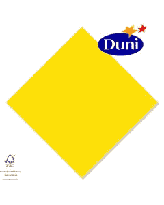 Duni Zelltuch-Servietten 40x40cm - Gelb (Dunicel-Servietten, Tissue, 3-lagig) # 213325