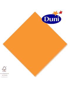 Duni Zelltuch-Servietten 33x33cm - Orange (Dunicel-Servietten, Tissue, 3-lagig) # 167738
