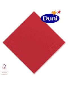 Duni Zelltuch-Servietten 24x24cm - Rot # 168414 (Cocktailservietten, Dunicel-Servietten, Tissue 3-lagig) - Sonderposten