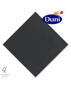 Duni Zelltuch-Servietten 33x33cm - Schwarz (Dunicel-Servietten, Tissue, 3-lagig) # 149070