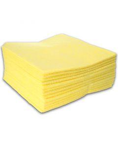 Allzwecktuch-Vlies, 38x38cm Vliestuch, Universal-Reinigungstuch - gelb (mit Farbcodierung)