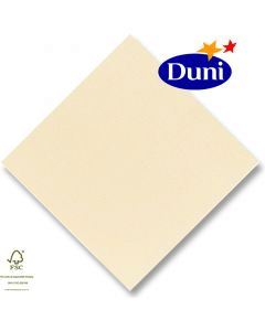 Dunilin-Servietten 40x40cm - Champagne (Airlaid-Serviette, textiler Charakter) # 330718