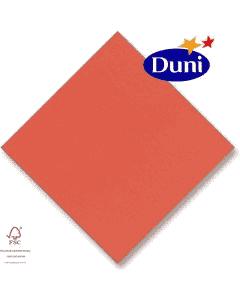 Dunilin-Servietten 40x40cm - Terracotta (Airlaid-Serviette, textiler Charakter) # 311229