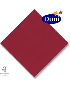 Dunilin-Servietten 40x40cm - Bordeaux # 330619 (Airlaid-Serviette, textiler Charakter)
