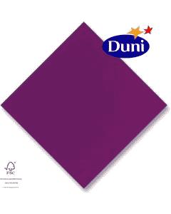 Dunilin-Servietten 40x40cm - Aubergine/Plum (Airlaid-Serviette, textiler Charakter) # 116076