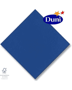 Dunilin-Servietten 40x40cm - Dunkelblau (Airlaid-Serviette, textiler Charakter) # 330657