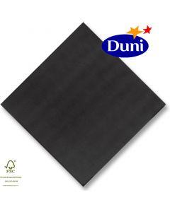 Dunilin-Servietten 40x40cm - Schwarz # 149086 (Airlaid-Serviette, textiler Charakter) - Sonderposten