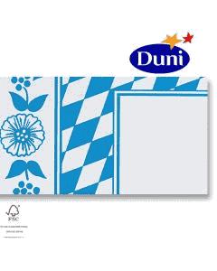 """Dunicel-Mitteldecken 84x84cm - """"Bayerische Raute"""" (Airlaid-Tischdecke, textiler Charakter) # 322935"""