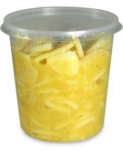 Feinkostbecher, Verpackungsbecher mit Deckel, PP, rund (Kombipack) - 500ml