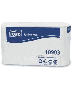 TORK dispenser servetten - wit, 25 x 30 cm, gevouwen 9 x 12,5 cm 1-laags, klein, voor N2-dispender