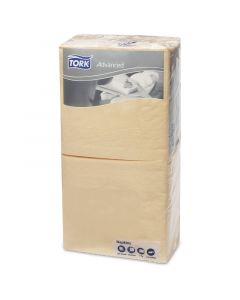 Tork Advanced tissue-servetten,  24x24 1/4,  2-laags, celstofservetten - champagne