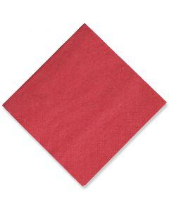 Tissue-Servietten, 24x24 1/4, 3-lagig - kirschrot - Cocktailservietten farbige