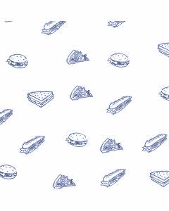 Burger-Papier, BIO-beschichtet (kompostierbar), fettdicht, blau