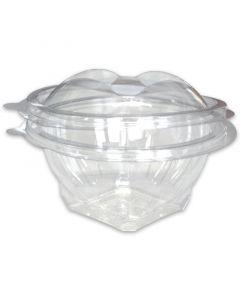Saladeschaal rond - PET doorzichtig met deksel - 1000 ml
