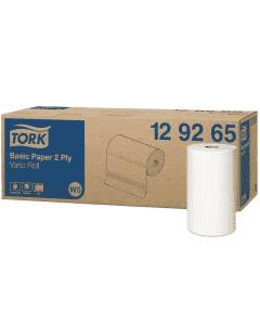 TORK Universal Wischtuch W5 320, hochweiß, 2-lagige Putzrolle 23x28cm, Kleinrolle 129265