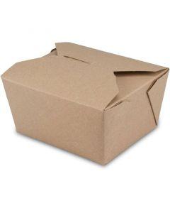 BioPak Foodcase - kompostierbare Snackbox mit Faltdeckel, braun - 750ml