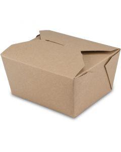 BioPak Foodcase - Snackbox mit Faltdeckel, beschichtet, braun - 750ml