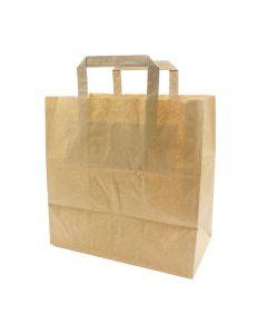 Papiertragetaschen 26+17x25cm - Kraft braun, umweltfreundlich