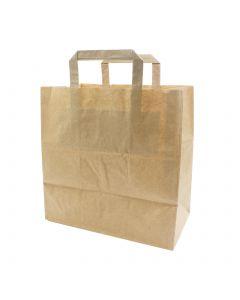 Papiertragetaschen f. Kuchen, Konditortragetaschen 32+17x27cm - Kraft braun