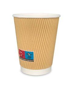 Ripple Cups - RIFFELBECHER, Recycling, Coffee to go Becher braun - 12oz, 300ml
