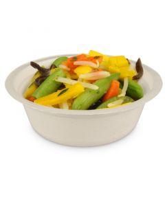 """Dessert-Schale aus Bagasse """"Eco-Friendly"""", rund (kompostierbar) - Ø13,5cm, 240ml"""