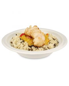 "Suppenschale aus Bagasse ""Eco-Friendly"", rund (kompostierbar) - Ø18cm, 400ml"
