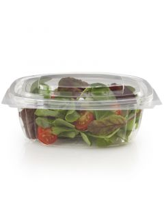 "Kompostierbare Salatschale ""Fresh Close"" aus PLA - oval, mit Deckel - 250ml"